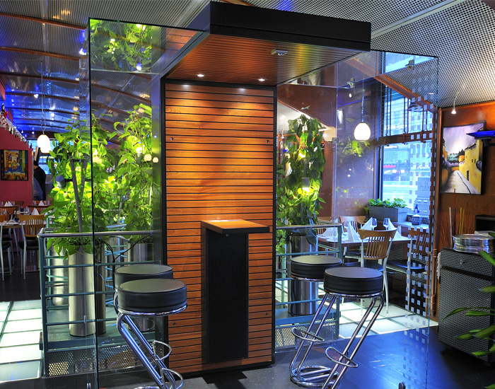 Smoking Cabin in Restaurant